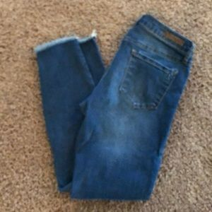 Articles of Society frayed ankle skinny jeans
